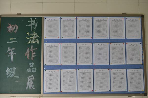 初二年级书法作品展-学习书法 陶冶情操 完善人格